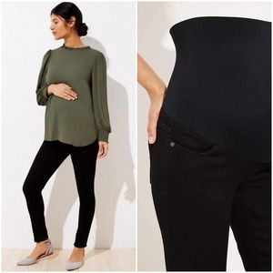 LOFT Maternity Super Skinny Jeans Black Stretchy